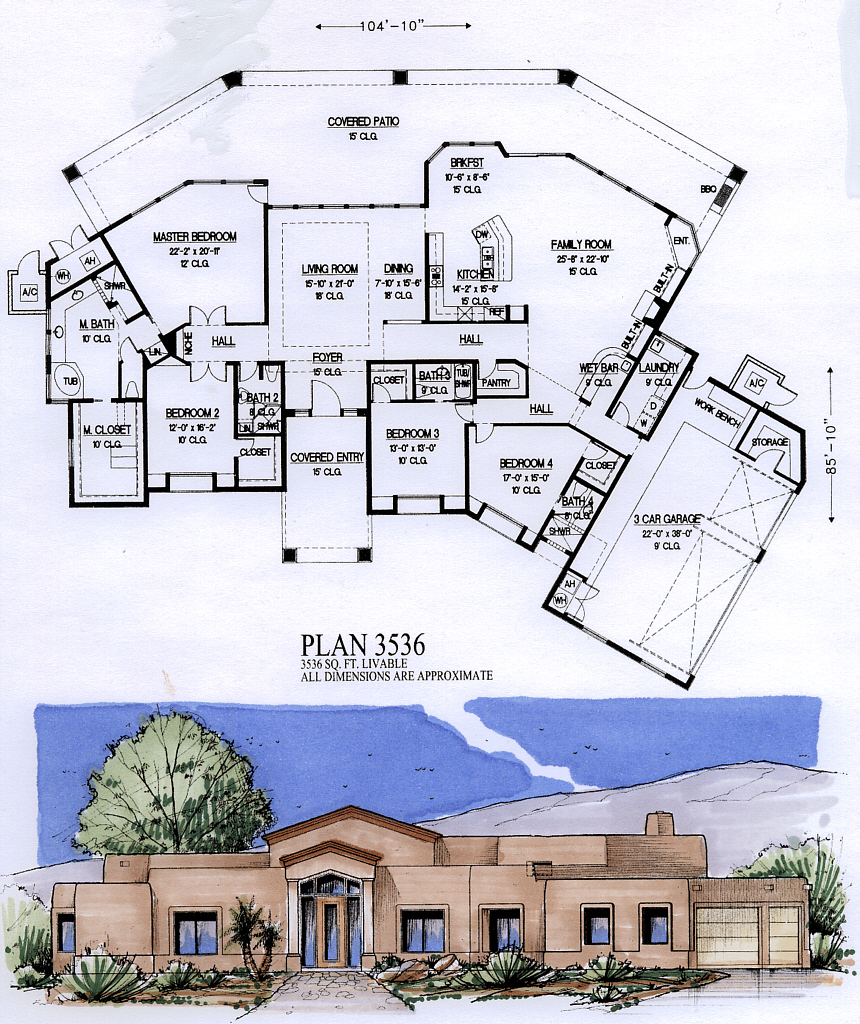 3500 to 4000 Square Feet – Floor Plans For 4000 Sq Ft House